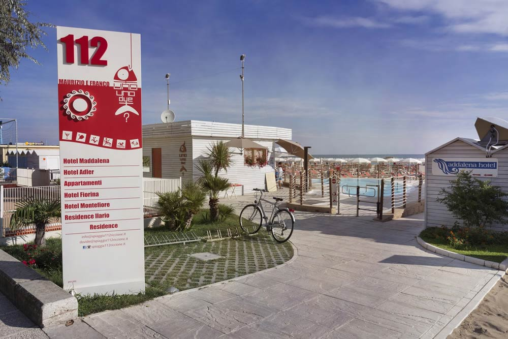 Hotel Riccione With A Subsidised Beach Beach Services For